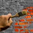 Stock Photo: To paint brickwork