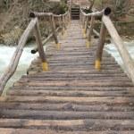 Bridge over mountain river — Stock Photo #2622454