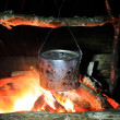 Royalty-Free Stock Photo: Kettle on hot fire
