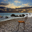 Royalty-Free Stock Photo: Old lost chair on beach