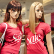Mannequins in the mall — Foto Stock