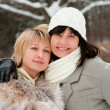 Two happy middle-aged women — Stock Photo #2469137