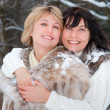 Two happy middle-aged women — Stock Photo