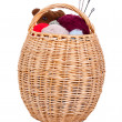 Basket with knitting — Stock Photo #2470512