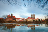 View on the old city in Wroclaw. — Stock Photo