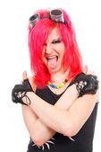 Punk girl portrait — Stock Photo