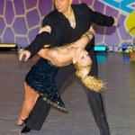 Salsa dancers — Stock Photo