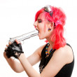 Punk girl - Stock Photo