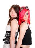 Stüdyo iki kızın portresi — Stok fotoğraf