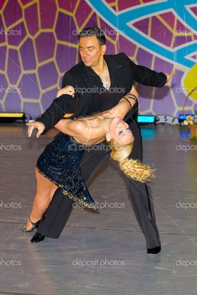Salsa dancers compete on World Dance Olympiad  Stock Photo #2566565