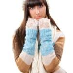 Winter portrait of young beautifyl woman — Stock Photo