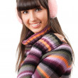 Woman in sweater portrait — Stock Photo