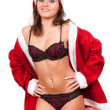 Royalty-Free Stock Photo: Young sexy Santa Girl
