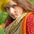 Stock Photo: Autumn girl