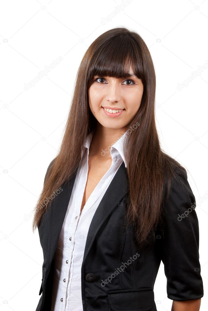 Smiling business woman. Isolated over white background — Stock Photo #2577075