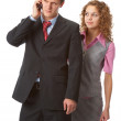 Boss and assistant — Stock Photo
