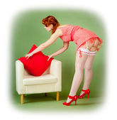 Pinup style girl — Stock Photo