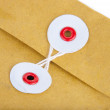Fragment of post envelope — Stock Photo