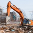 Stock Photo: Working excavator