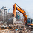 Working excavator — Stock Photo