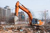 Working excavator — Stock Photo