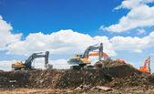 Working excavators — Stock Photo