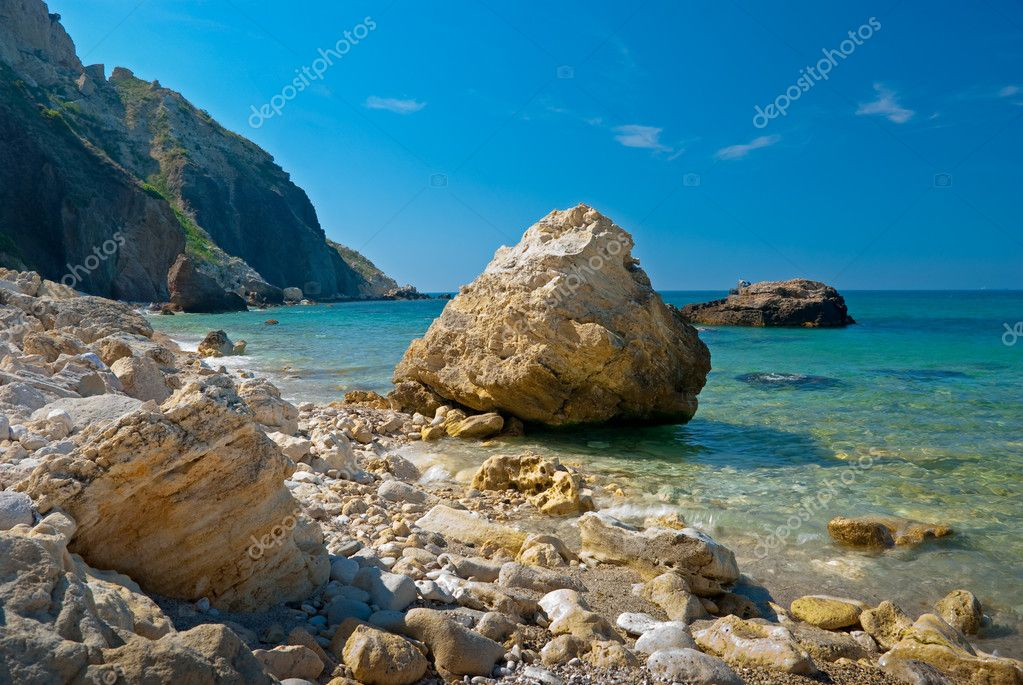 Stones on a Black Sea coast near Sevastopol, Ukraine  Stock Photo #2607353
