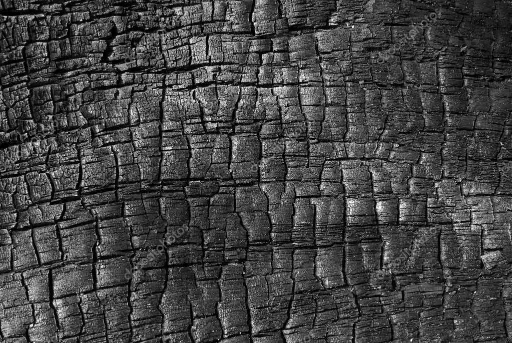 Burnt wood high resolution texture — Stock Photo #2607424