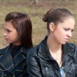 Stock Photo: Quarrel girls