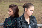 Quarrel girls — Stock Photo