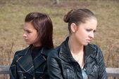 Quarrel girls — Stock Photo