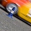 Stock Photo: Slalom car racing