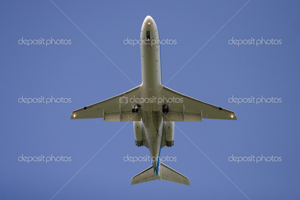 Beneath airplane — Stock Photo #2471296