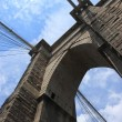 Brooklyn Bridge - New York City Skyline - Stock Photo