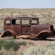 Abandoned car on Route 66 — Foto de Stock