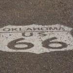 Oklahoma Route 66 Shield — Stock Photo