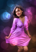 Party and nightlife - happy woman dance — Stock Photo