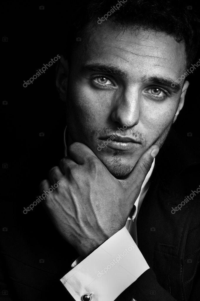 One cool looking masculine handsome man  Stock Photo #2438654