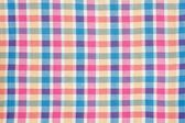 Colorful Checkered Picnic Cloth — Stock Photo