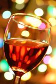 Close up on Glass of Red Wine — Stock Photo