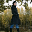 Stock Photo: Woman in autumn park 4