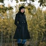 Woman in autumn park 5 — Stock Photo