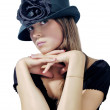 Woman in black hat 2 — Foto de Stock