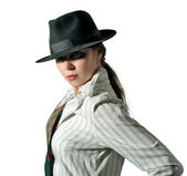 Woman in hat 2 — Stock Photo