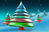 Colorful candy christmas tree — Stock Photo