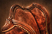 Old leather armchair — Stock Photo
