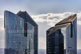 Tops of modern skyscrapers in Paris — Stock Photo