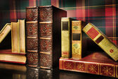 The antiquarian holder for books — Stock Photo
