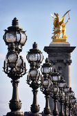 Lanterns on bridge — Stock Photo