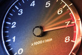 Accelerating Dashboard — Stock Photo